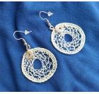 White gold - Crocheted earrings