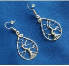 Tree of Life Wire Earrings - silver-platter wire
