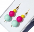 Dangle Earrings for Women - Yellow, blue, cyclamen