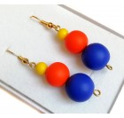 Dangle Earrings for Women - Blue, orange, yellow