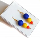 Dangle Earrings for Women - Orange, yellow, blue