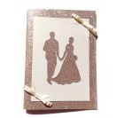 Handmade wedding card - gold and champagne