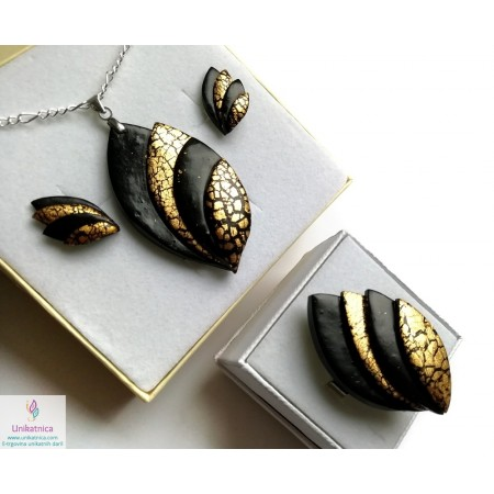 /2232-10574-thickbox/gold-black-leaf-ring-necklace-earrings-glamour.jpg