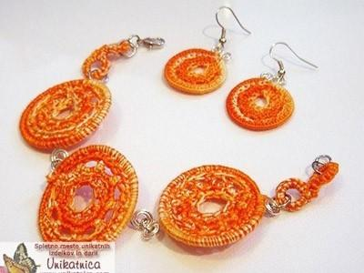 Crochet bracelets and earrings (sets)